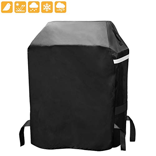 Grisun Grill Cover for Dyna-Glo DG300C Small Space LP Gas Grill, Heavy Duty Waterproof, Fade Resistant BBQ Grill Cover for Weber, Brinkmann, Char Broil, Holland and Jenn Air (29in x 23in x 45in) Covers Grill