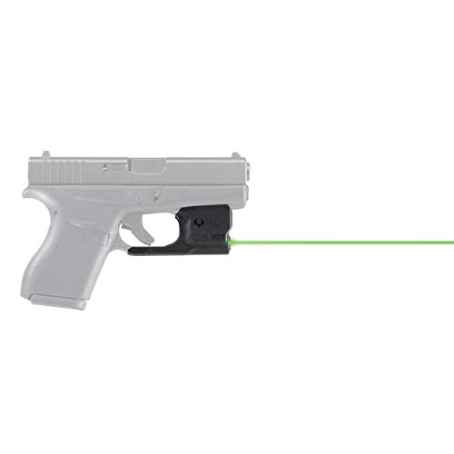 VIRIDIAN WEAPON TECHNOLOGIES 920-0036 Reactor 5 Gen II Green Laser, Fits: Glock 43 with ECR Instant On IWB Holster, Black