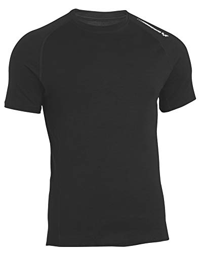 Merinopower Herren T-Shirt Rundhals aus Reiner Ultra-feiner Merinowolle mit Aufdruck
