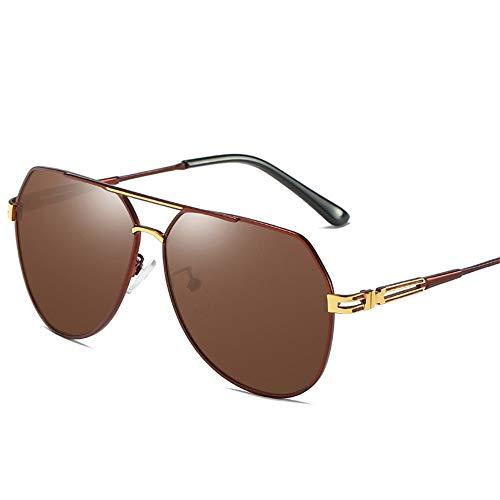 WYHP Vintage zonnebril mannen gepolariseerde zonnebril met UV-bescherming 400mm 61mm HD Aviator Lens Golf/Driving/Vissen/Reizen Bril