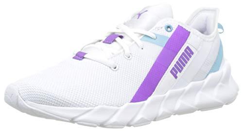 PUMA Weave XT Jr Sneaker, Mehrfarbig White Milky Blue Royal Lilac 03, 39 EU