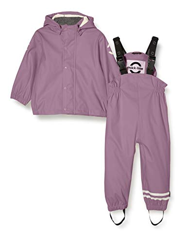 mikk-line Unisex-Baby Set Rain Jacket, Grapeade, 104