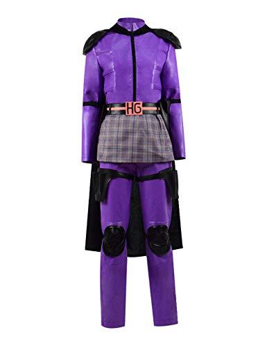 Yewei Kick Ass 2 Cos Kleidung Natalie Halloween Kostüm Freizeitkleidung Bar Kleidung (Kick, XXL)