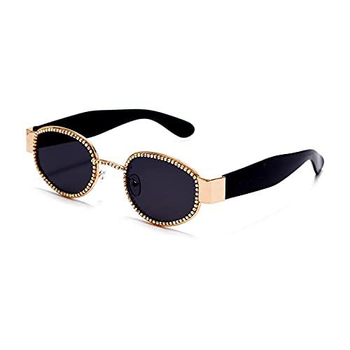 HAOMAO Espejo gradiente fotocromático Steampunk ovalado piloto de diamantes de imitación gafas de sol para hombres y mujeres Uv400 gafas de conducción 1