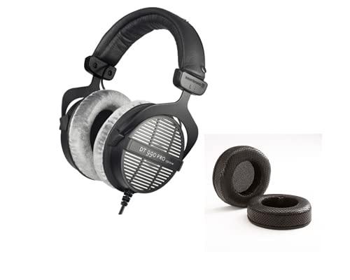 Beyerdynamic DT 990 PRO Open Studio Headphone Bundle with Dekoni Audio Elite Fenestrated Sheepskin Earpads