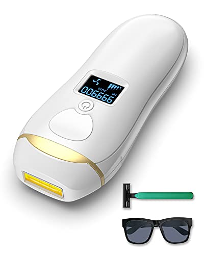 at Home Laser Hair Removal for Women Men, BAIVON Painless Permanent IPL Hair Remover Device for Whole Body, Upgrade 999,900 Flashes
