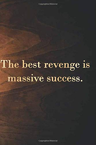 Lamp :The best revenge is massive success: 6 x 9' Notebook to Write In with 110 Lined College Ruled Pages beautiful design