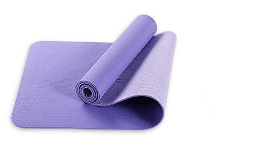 NAXIAOTIAO TPE Yogamatte Fitnessmatte Zweischichtige Zweifarbige Weiten Yoga Matte Doppelte Gymnastikmatte,Purple
