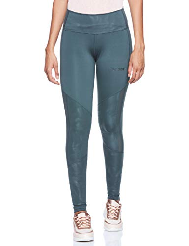 adidas D2m High-Rise Long Tight Tights, Mujer, Legend Ivy/Legend Ivy/Print, M