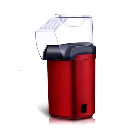 N / B Máquina de Palomitas de Aire Caliente eléctrico de 1200W, 3 ráfagas de Minutos Quick, sin Aceite y sin BPA, fácil de Limpiar, para Fiestas Familiares y películas Noche, Rojo
