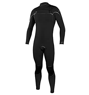 O'Neill Men's Psycho One 4/3mm Chest Zip Full Wetsuit, Black/Black, X-Large