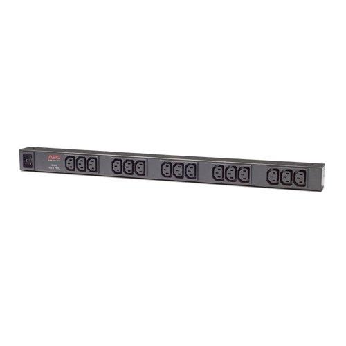 APC Rack PDU - AP9572 - stroomverdeling (Basic, verticale montage, 16A, 208/230V, 15 uitgangen C13, IEC C20)