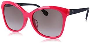 Fendi Micrologo Fuchsia Havana Brown Asia Fit Sunglasses