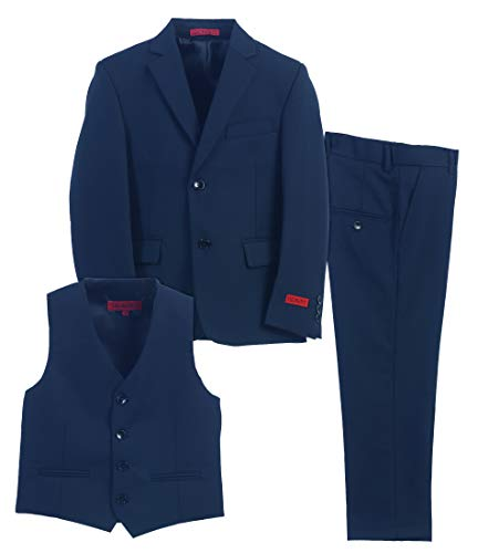 Gioberti Boy's Formal 3 Piece Suit Set, Royal Blue, Size 16