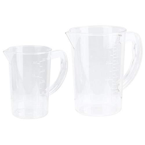 Mesure de la tasse Acrylique Mesure Tasse Coupe transparente Affichage de balance transparente avec poignée pour outils de mesure de café de cuisine (Capacity : 1000ml, Color : Transparent)