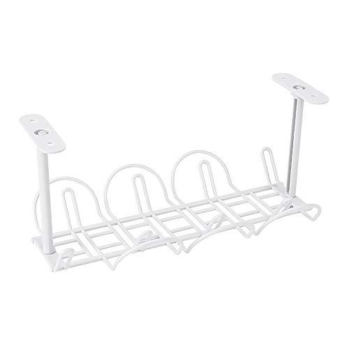 Kabel-Management-Tablett für Schreibtische, Büros und Küchen (weiß)