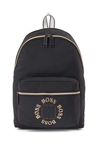 BOSS Mens Pixel TL Backpack Structured-Nylon Backpack with Layered Metallic Logo Size One Size
