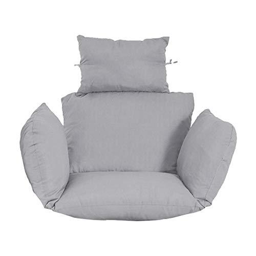 HSIYE,Cojín,Hanging Egg Hammock Chair Cushion Wicker Rattan Hanging Swing Seat Cushion Removable Thick Nonslip Soft Swing Chair Back Cushion,Light Grey