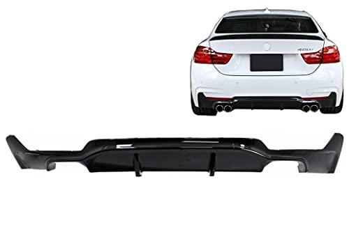 KITT RDBMF32MPDOB Diffusore paraurti posteriore 2013 + Coupe Cabrio doppia uscita pianoforte nero