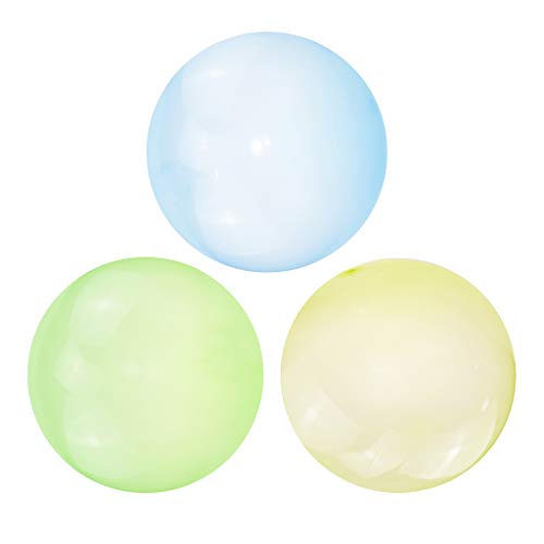 lahomia 3pcs Firm Bubble Ball Inflatable Balloon Stretch Garden Decor Kids Toy