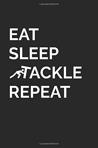 Eat Sleep Tackle Repeat - Football Defense: (6x9 Journal): College Ruled Lined Writing Notebook, 120 Pages