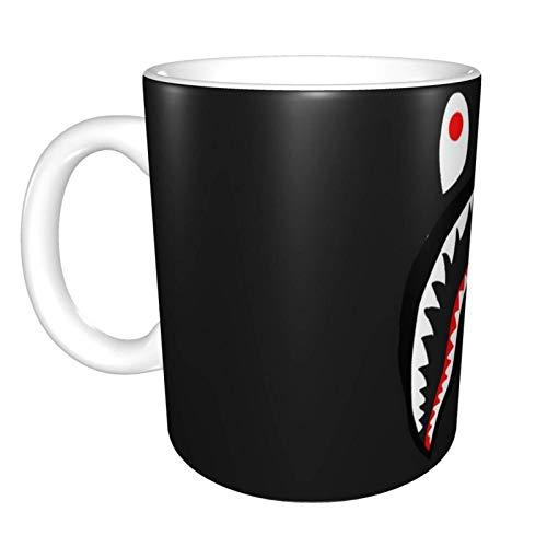 Kaffeetassen Ba-Pe Shark Camo Mug Teebecher Geschenke für Frauen Mann Freund Keramik Kaffee und Teetasse Weihnachtsbecher