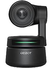 OBSBOT Tiny ウェブカメラ AI自動追跡 ストリーミング 小型 HD1080P 200万画素 90°広角 オートフォーカス 自動光調整 マイク内蔵 ノイズ取止め機能 2軸ジンバル内蔵 ジェスチャーで操作可能 USB-C接続 三脚対応 ビデオ会議/ライブ配信/オンライン授業用