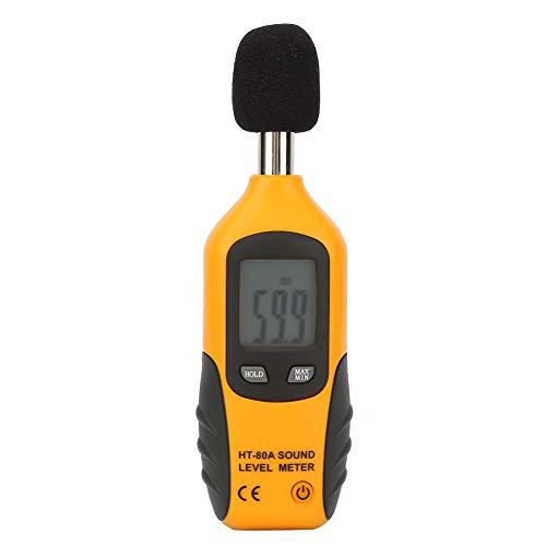 Dezibel-Messgerät, professionelles HT-80A-Geräuschmessgerät mit digitaler LCD-Anzeige, Geräuschüberwachungsmessgerät mit digitalem Schallpegelmesser, 30-130 dB Messbereich, für Heimkino-Fabrik