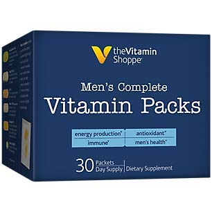 commercial vitamin packs Vitamin Shoppe Includes a complete vitamin pack for men, a 30-day supply, antioxidants to support energy production, men's immunity, vitamins, minerals, herbs and more (30 packs)