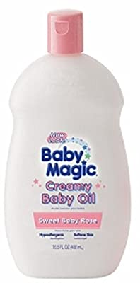 Baby Magic Creamy Baby Oil, Sweet Baby Rose 16.5 oz (Pack of 4)