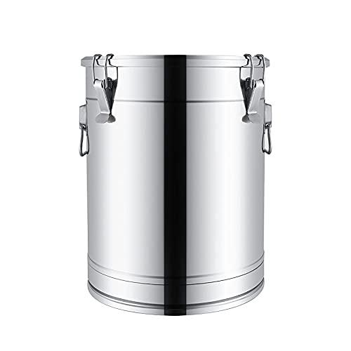 Cazos de Cocina, Ollas de sopa con tapas, cubo de sopa / cubo sellado, cubo de almacenamiento multifuncional espesado de acero inoxidable 304 para uso doméstico / comercial / cubo de leche / c
