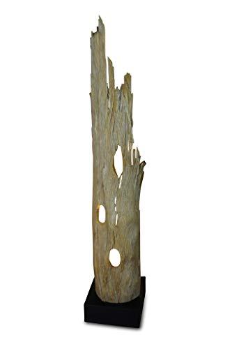 *Treibholz Stehlampe RANONG – 127cm Stehleuchte aus Teakrinde mit LED-Spot, geeignet für Wohnzimmer, Flur Schlafzimmer oder auch Bad*