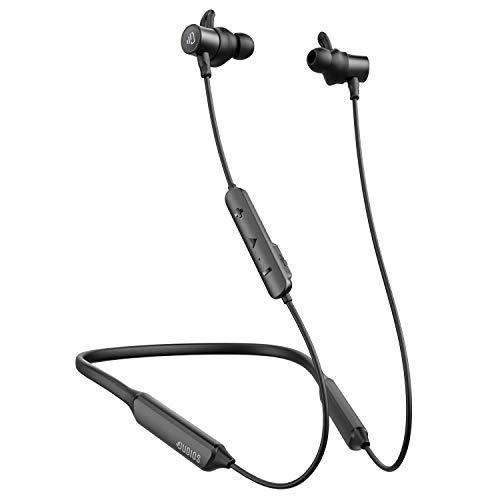 Dudios Bluetooth Headphones Neckband, apt-X Deep Bass Bluetooth Earbuds IPX7 Sweatproof Magnetic Wireless Earphones(CVC6.0 Noise Cancellation, 16 hrs Playtime) (Black)