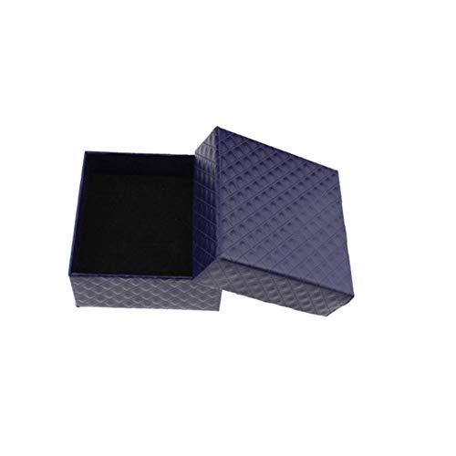 lffopt Cajas Carton Regalo Cajas Regalo Carton Almacenamiento de joyería y bisutería Anillo Caja Multifunción Caja de Collar Blue