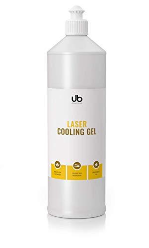 UB Laser Cooling Gel - Kühlgel für Lasertherapie – Lasergel zur Verwendung mit IPL & Lichttherapie. Kontaktgel reduziert Schmerzen. Verhindert ein Überhitzen der Haut - 500 ml