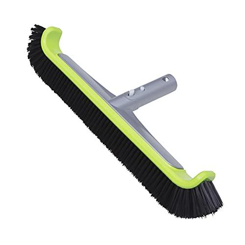 urchindj Premium Heavy Duty Nylon Bristle Swimming Pool Brush, Pool Wall Floor & Tile Brush with Intergrated Aluminum Structure of...