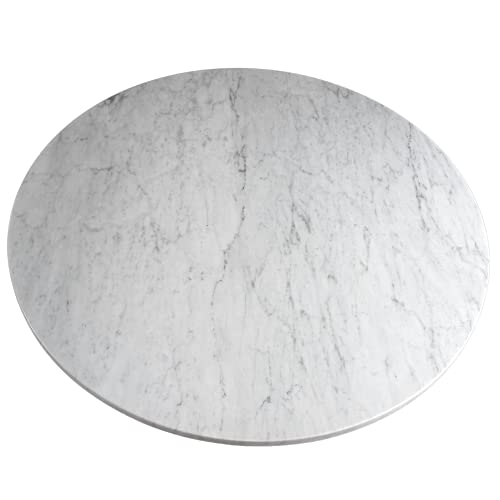 Large Marble Lazy Susan Turntable Rotating Tray Dining Table Centerpiece Serving Plate - 24 26 28 Inch
