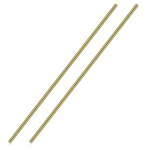 1/4 Inch Brass Round Rod, Favordrory 2PCS Brass Round Rods Lathe Bar Stock, 1/4 Inch in Diameter 14 Inch in Length