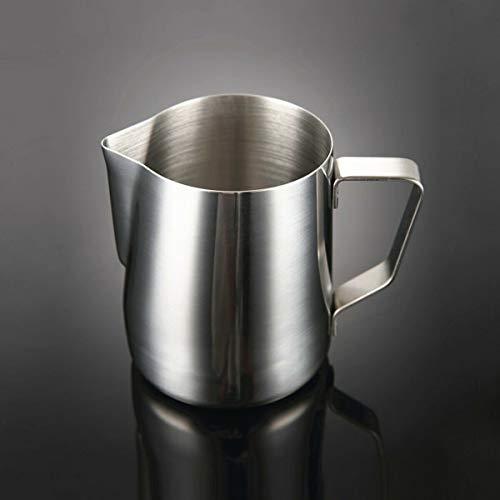 Holdlebe Milchkännchen Milk Pitcher aus Edelstahl, Ideal zum Aufschäumen von Milchschaum, Silber, 150ml