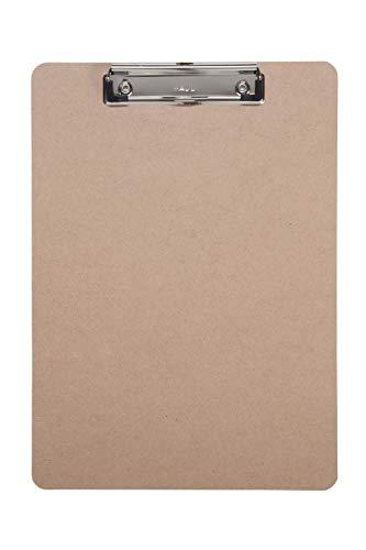 Schreibplatte Maulbasic, Klemmbrett, DIN A4 hoch, Hartfaser-Holz, Recycelbar, 8 mm Klemmweite