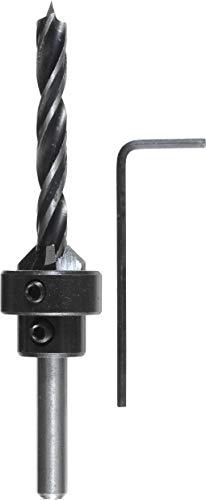 kwb Holzspiralbohrer Ø 3,0 mm mit Senker und Tiefenstop 513103 (CV-Stahl, individuell einstellbar)