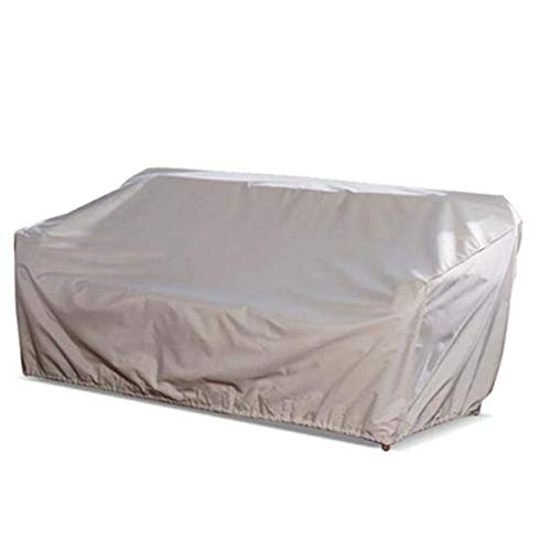 HYCZW Fundas Muebles Jardín, Funda Protectora para Sofá De 3 Plazas Cubierta De Sofá Protección UV Impermeable Protección contra La Nieve PE Oxford, 218X99x90 Cm (Beige)