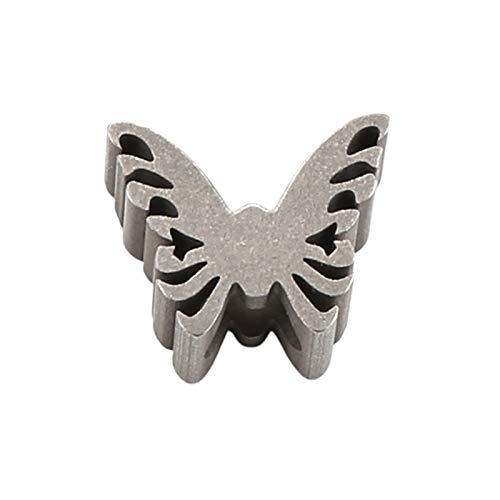 Hellery Cuentas con Agujeros de 6mm para la fabricación de Joyas, encantos de Pulsera de paracaídas DIY, Linterna Mariposa araña Cuchillo cordón Accesorios - Mariposa