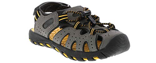 Khombu Charlie Active Sandal Boys' Outdoor Shoes Grey in Size 6