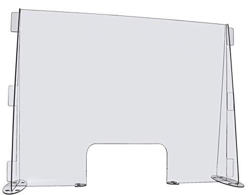CLEAR ACRYLIC DESK OR COUNTER SNEEZE GUARD PROTECTION DIVIDER (29'W X 23'H)