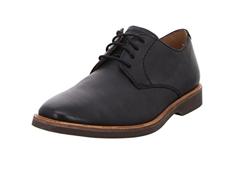 Clarks Herren Atticus Lace Derbys, Schwarz (Black Leather), 45 EU