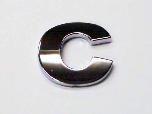 Cromo Look Letra C–Insignia Adhesivo De Coche/viene con parte posterior autoadhesiva