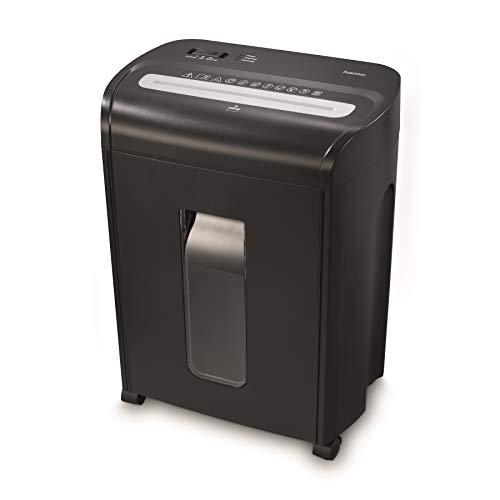 Hama Aktenvernichter fürs Home Office (Partikelschnitt, Micro-Cut-Schredder, bis 10 Blatt Papier, Plastikkarten, 18 Liter Papierkorb, Start/Stopp-Automatik, Sicherheitsstufe P4, gemäß DSGVO) schwarz