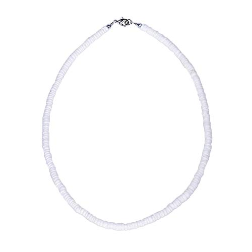 BlueRica Smooth Puka Shell Beads Necklace (14 Inches)