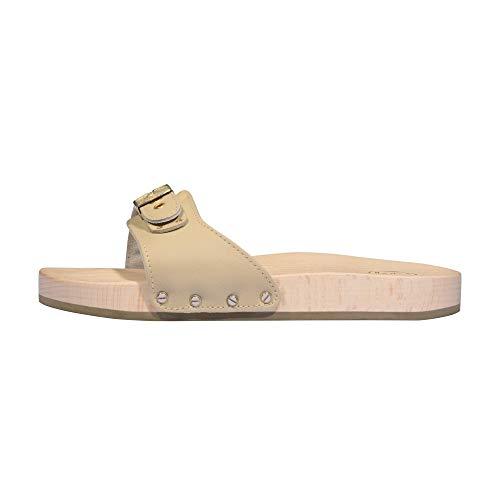 Scholl Clog Evo, Pantofole Unisex-Adulto, Sabbia, 35 EU